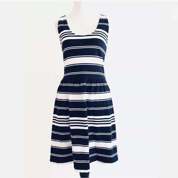 ff6ca10427 J. Crew Dresses | J Crew Womens Striped Sundress Size Xs Navy Blue ...